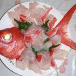 金目鯛の刺身の湯引き、皮付の作り方・さばき方・切り方、炙り方等の食べ方